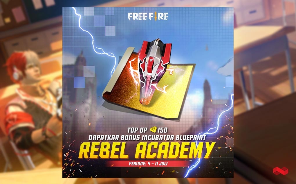 Top Up 150 Diamond Free Fire, Langsung Dapat Incubator Blueprint Rebel Academy