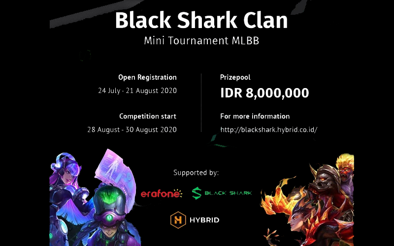 Black Shark Hadirkan Turnamen MLBB Amatir Bernama Clan Mini Tournament