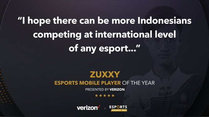 Zuxxy Bigetron RA Raih Penghargaan Epsorts Mobile Player of The Year 2020