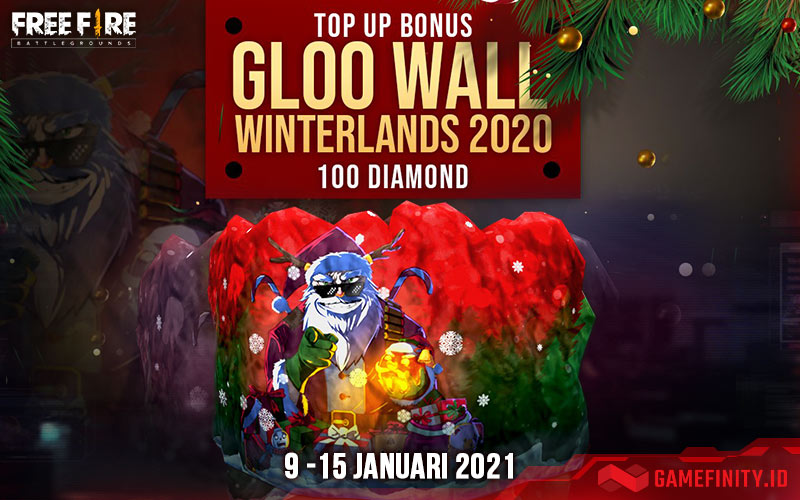 Top Up Diamonds Free Fire Langsung Dapat Bonus Gloowall Winterland 2020